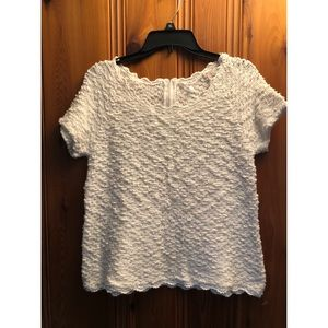 Anthropologie Knitted and Knotted Boucle Top XL